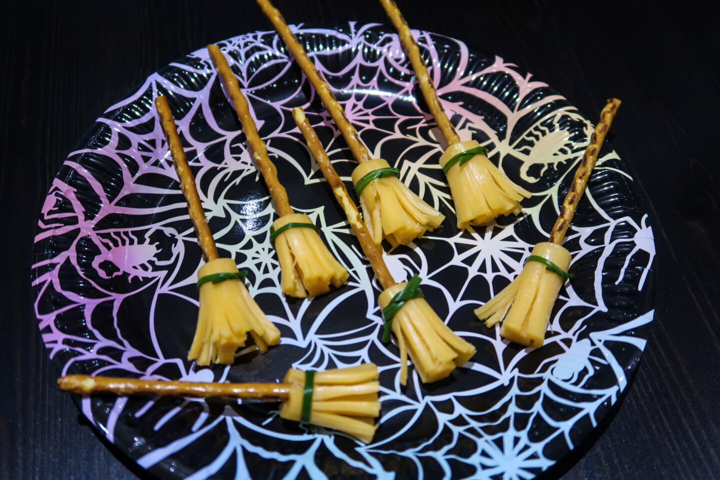 cheesestring pretzel witches broomsticks