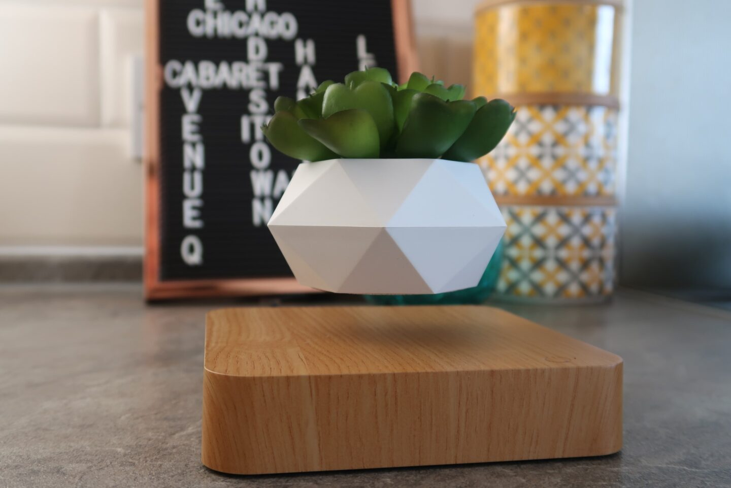 Add some magic to your home decor with Airsai Floately levitating plant pot